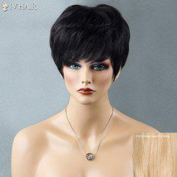 Short Shaggy Full Bang Straight Siv Human Hair Wig