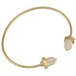 Alloy Geometric Turquoise Cuff Bracelet - WHITE AND GOLDEN