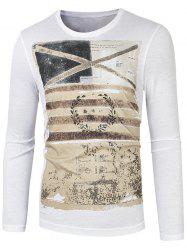 Long Sleeve Round Neck Graphic Printed Tee -
