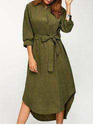 Bowknot Belted Wrap Dress