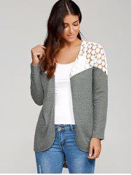 Lace Patchwork High Low Cardigan -