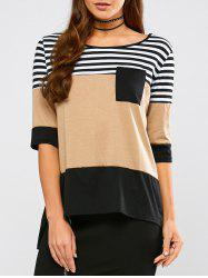Stripe Patchy Pocket Raglan Tee