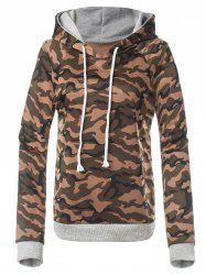Fitted Camo Printing Hoodie -