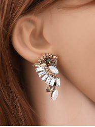 Symmetrical Faux Crystal Rhinestone Earrings