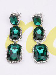Three Faux Gem Rhinestone Dangle Earrings