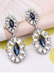 Faux Crystal Rhinestone Waterdrop Earrings
