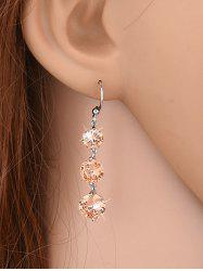Pair of Rhinestone Dangle Earrings