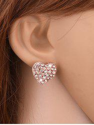 Rhinestone Heart Shape Stud Earrings