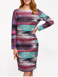 Ornate Printed Slimming Dress - COLORMIX 2XL