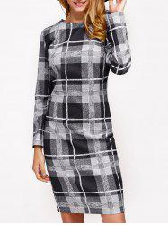 Plaid Slimming Dress