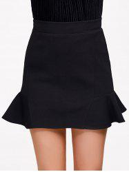 Flounce High Waist Skirt -