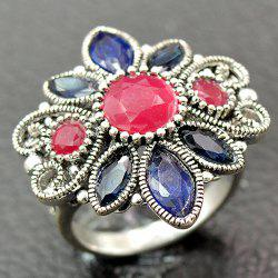 Vintage Faux Gem Floral Ring