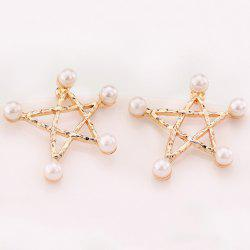 Artificial Pearl Star Earrings -
