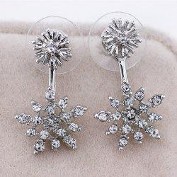 Rhinestone Snowflake Drop Earrings