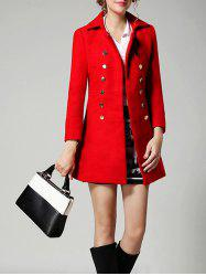 Double Breasted Wool A Line Coat -