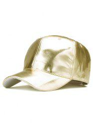Sparkling PU Leather Baseball Hat - CHAMPAGNE