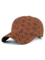 Casual Floral Velvet Sunscreen Baseball Hat