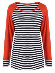 Elbow Patch Vertical Striped Tee -