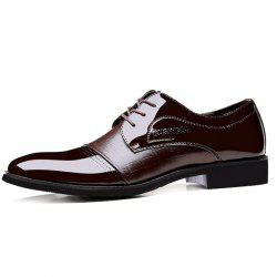 Patent Leather Insert Formal Shoes