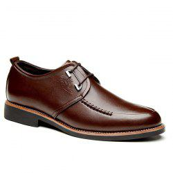 PU Leather Stitching Formal Shoes - BROWN 41