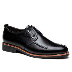 PU Leather Stitching Formal Shoes -
