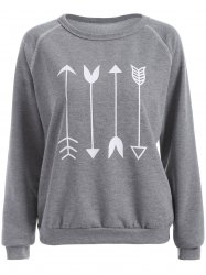 Arrow Graphic Sweatshirt - GRAY M