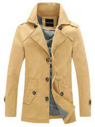 Single Breasted Epaulet Embellished Wind Coat -