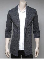 Slimming Turndown Collar Cardigan