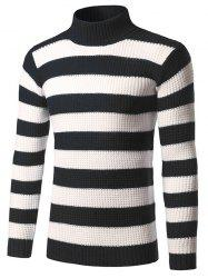 Slim Fit Roll Neck Striped Sweater