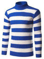 Slim Fit Roll Neck Striped Sweater -