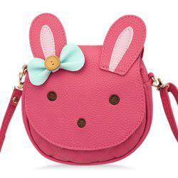 Colour Block Button Bow Crossbody Bag