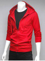 Spliced Pocket Drawstring Hoodie