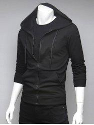Spliced Pocket Drawstring Hoodie -
