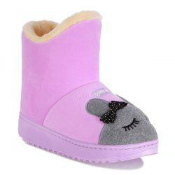 Platform Cartoon Rabbit Snow Boots - PURPLE