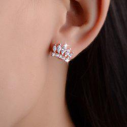 Rhinestone Crown Stud Earrings