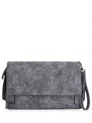 PU Leather Clutch Bag - GRAY