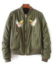 Quilted Souvenir Bomber Jacket