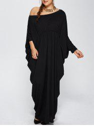 Plus Size One Shoulder Evening Prom Maxi Dress