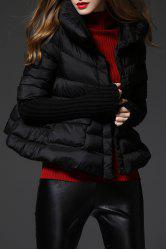 Knit Sleeve Cape Down Jacket -