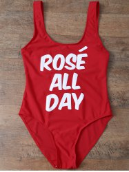 Scoop Neck Rose All Day Swimwear -