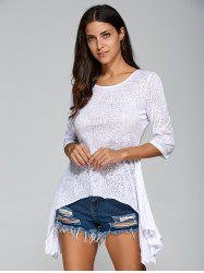 Asymmetrical Casual Chiffon Blouse