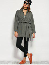 Wrap Front Trench Coat -