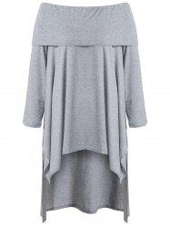 Asymmetric Casual Long Sleeve Off The Shoulder Dress