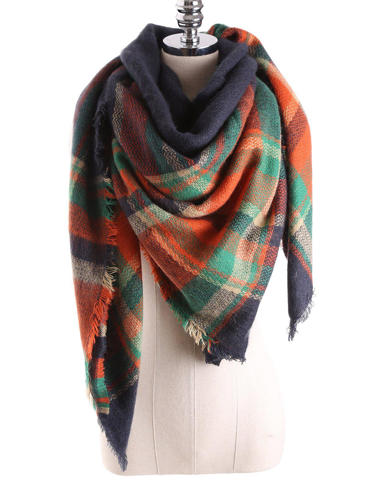 Outfit Warm Tartan Plaid Blanket Shawl Scarf