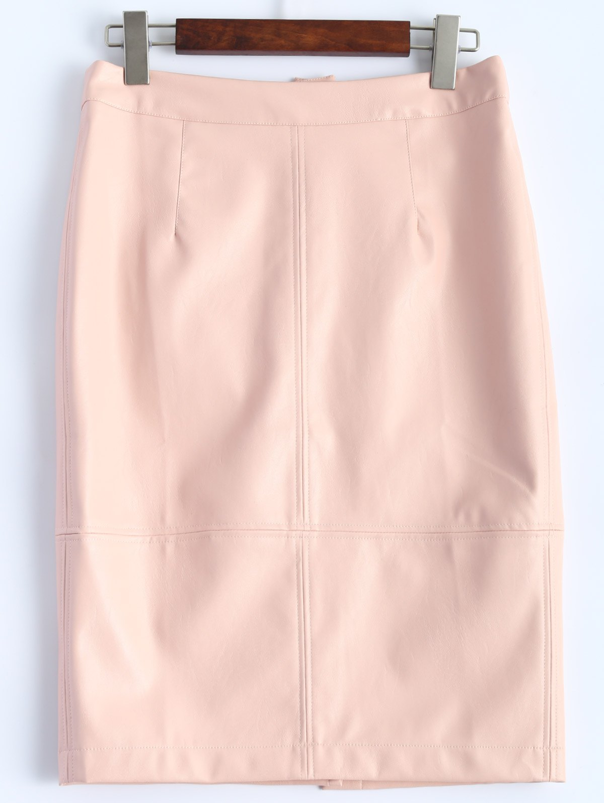 Store Faux Leather Pencil Skirt