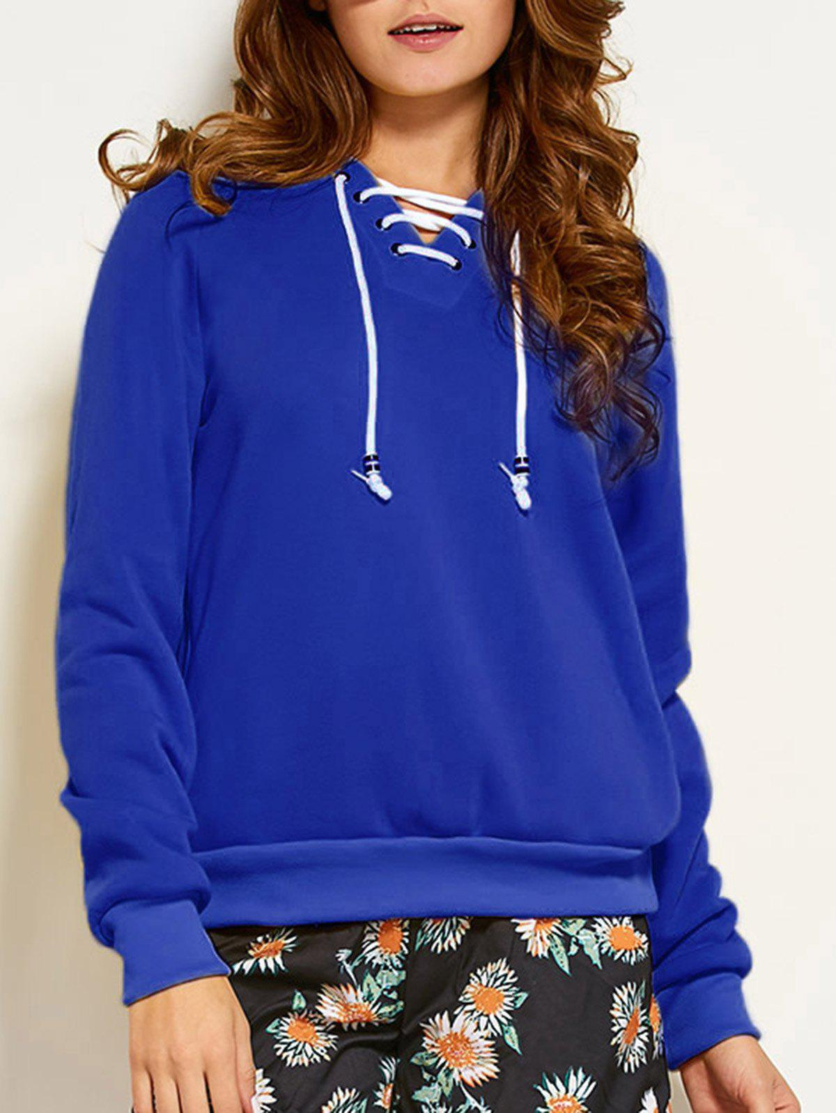 New Lace Up Hoodie
