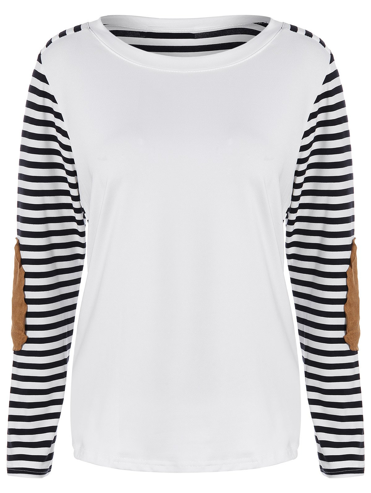 Discount Striped Elbow Patch Tee