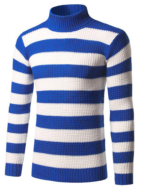Sale Slim Fit Roll Neck Striped Sweater