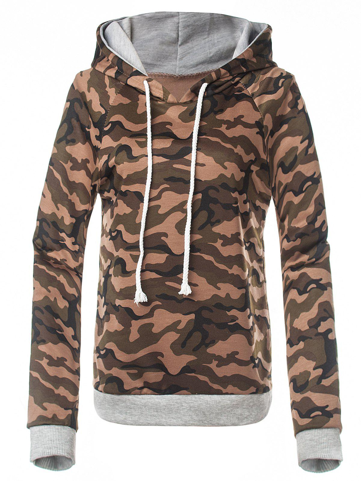 Online Fitted Camo Printing Hoodie
