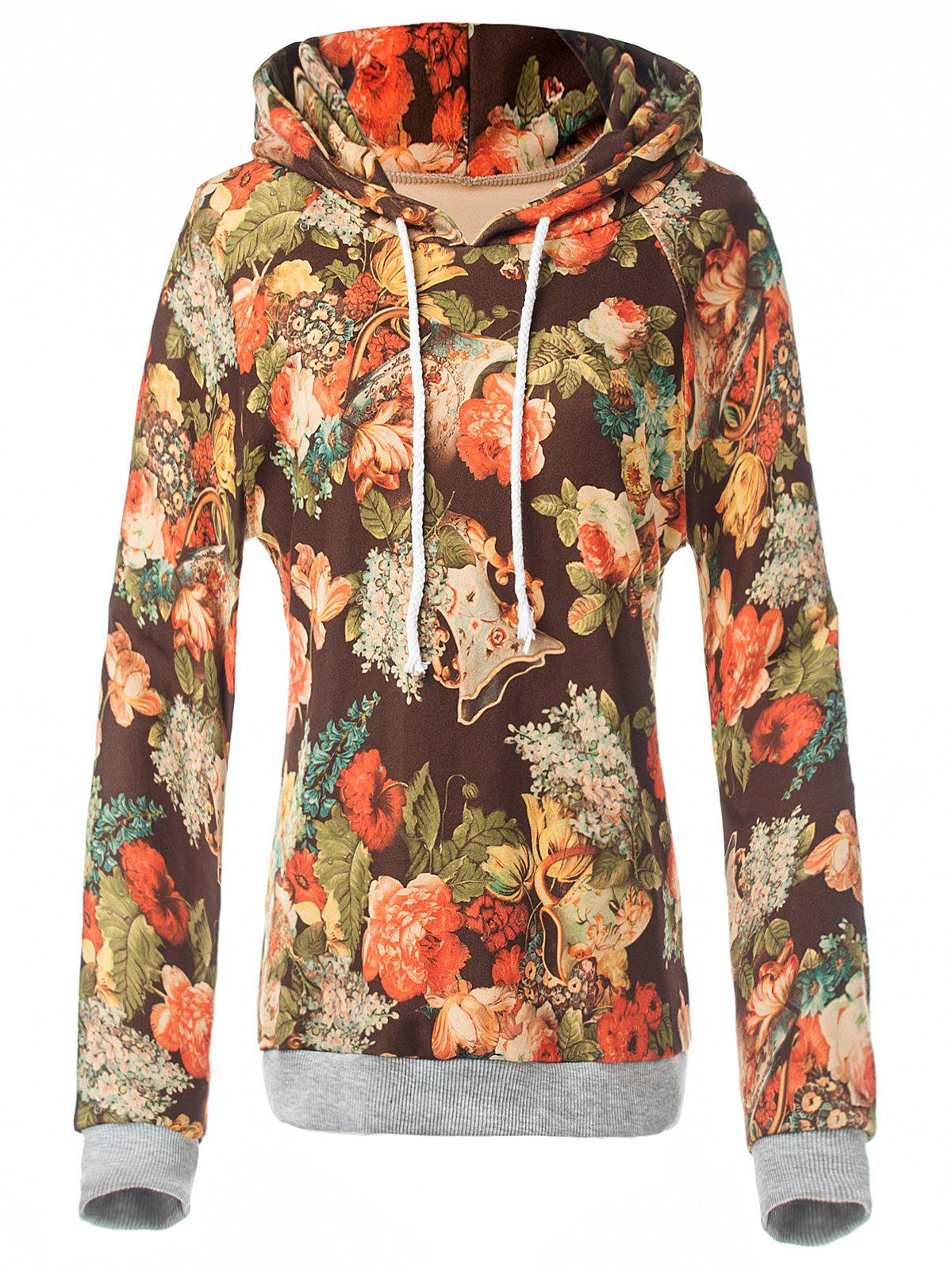 New Retro Floral Painting Pullover Hoodie